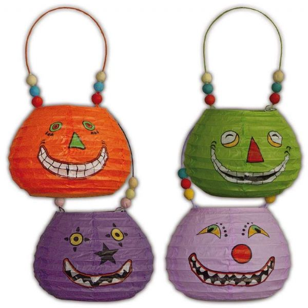 Party Lantern Basket shaped Faces Asstd Hawaiian Chinese lampion